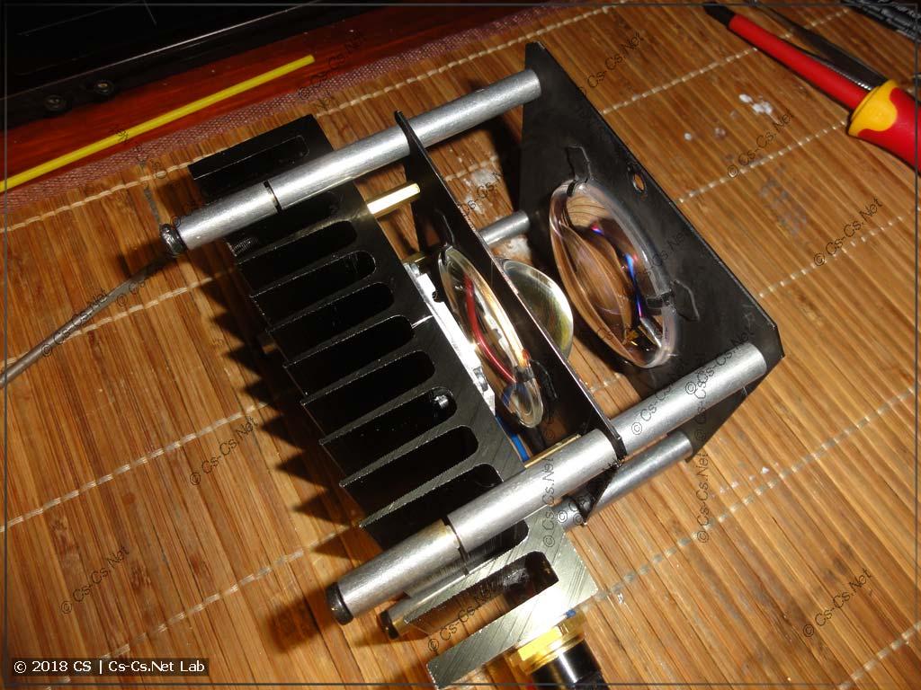 Готовый конденсор после переделки сканера ROBE на светодиод