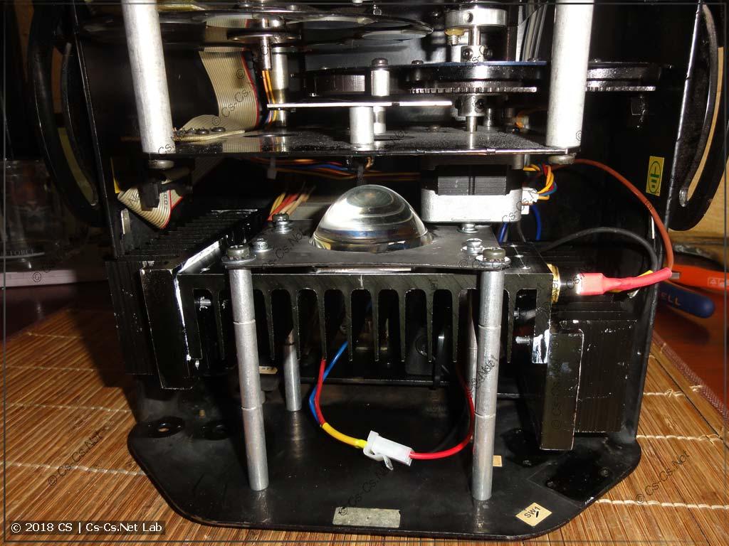 Оптика сканера с большим набором радиаторов