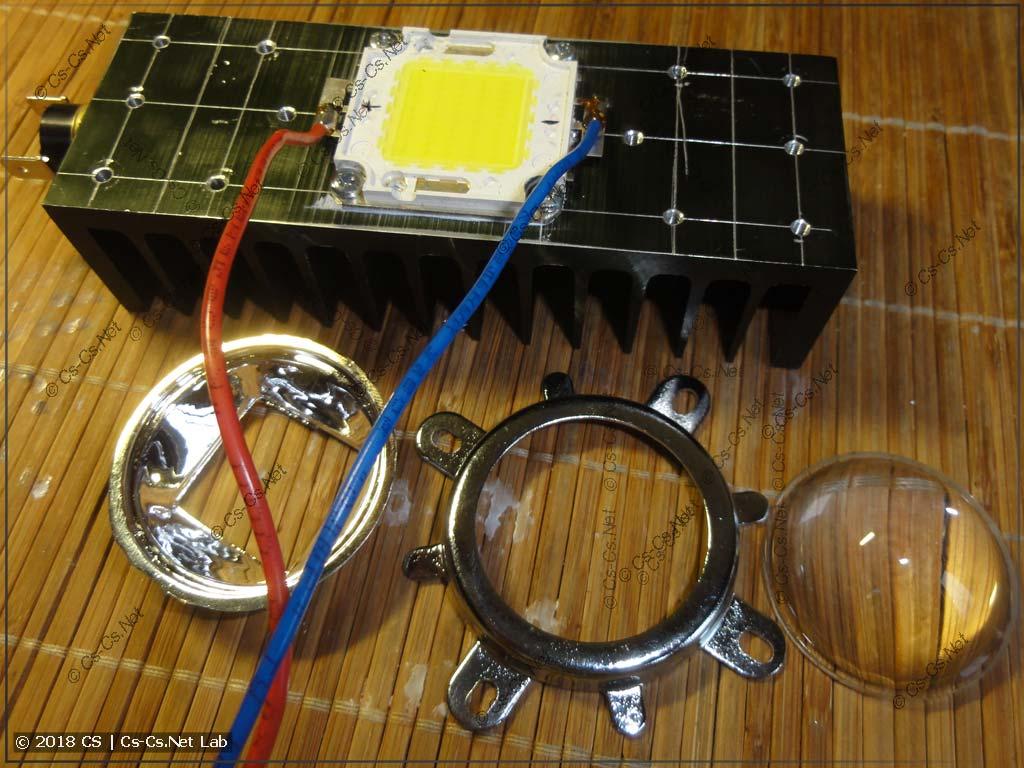 Переделываем COB-светодиод на специальную линзу 60 градусов
