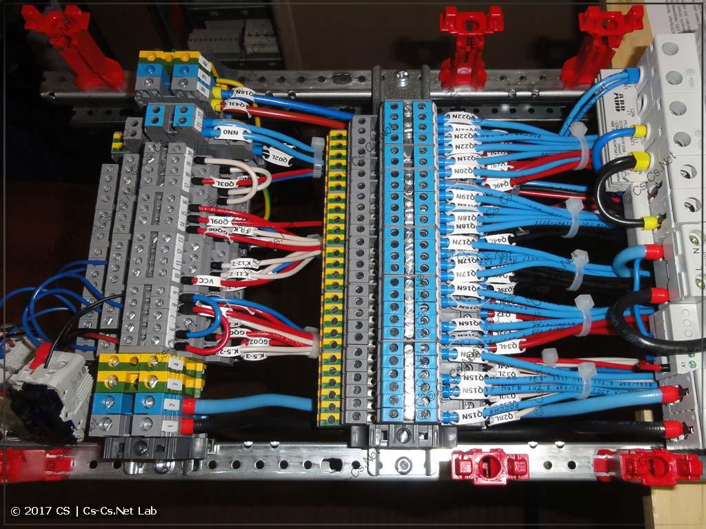 Клеммы для того, чтобы подключать отходящие кабели