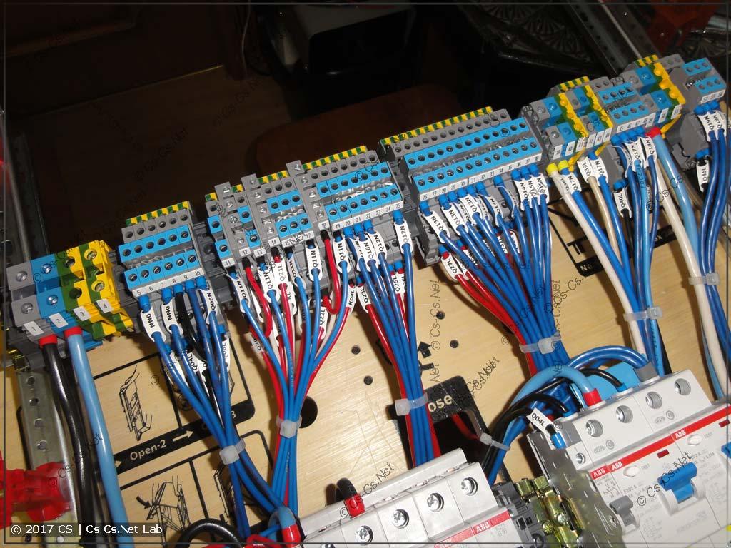 Клеммы ABB D4/6.NLP для того, чтобы было удобно подключать кабели к щиту