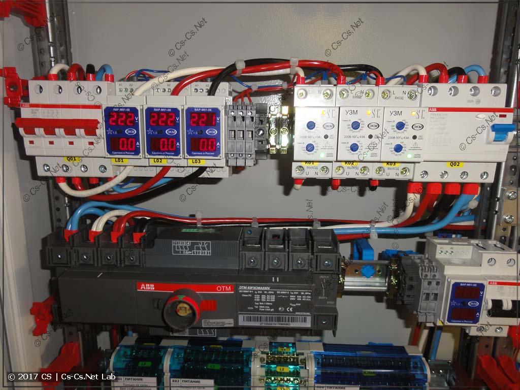 Собираем обвязку ввода сети (контроль и защита)