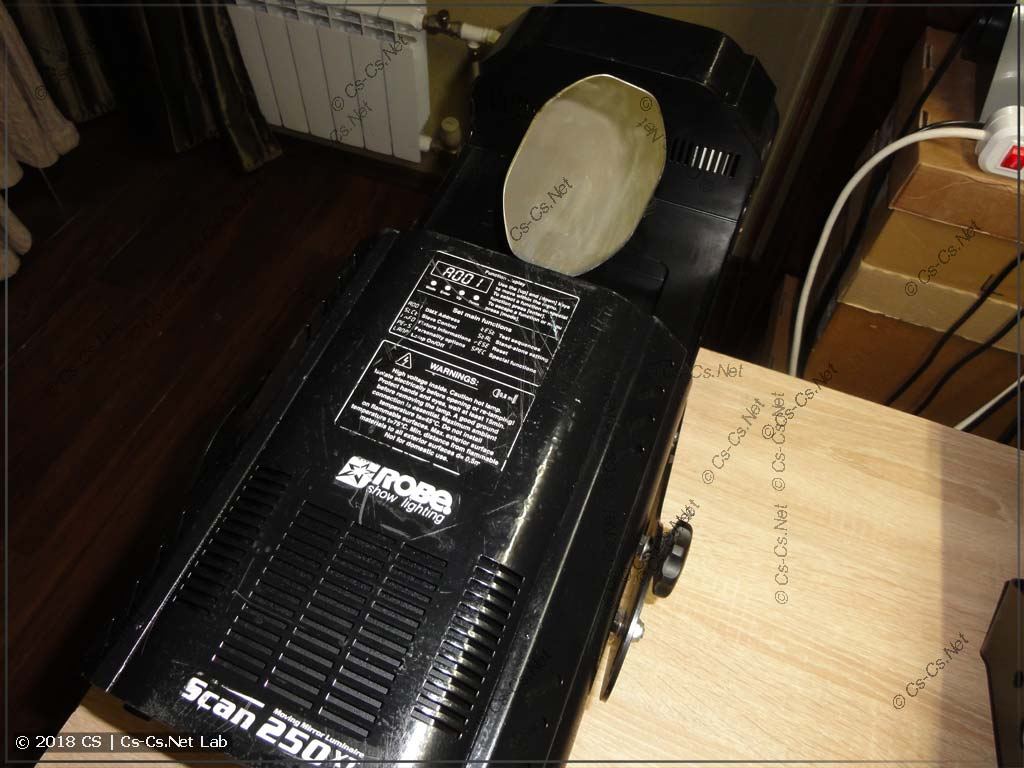 ROBE Scan 250 XT scanner after little repair