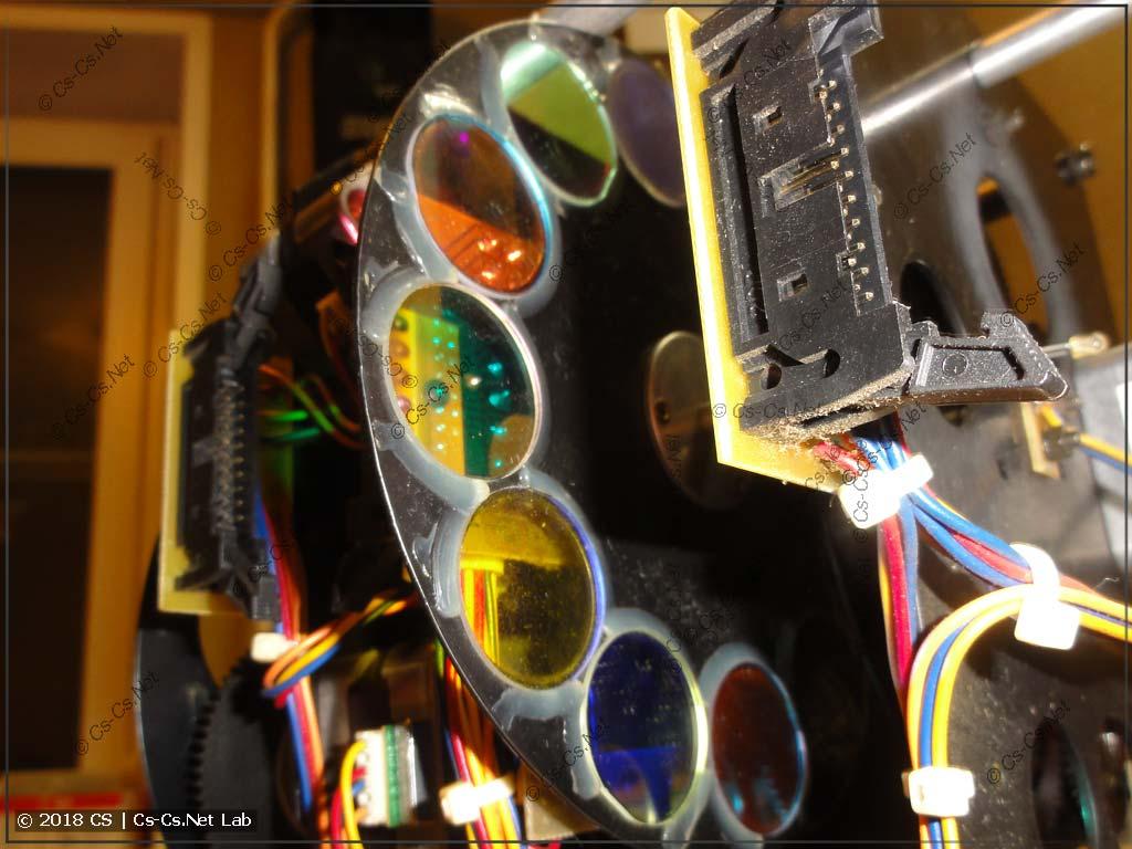 Светофильтры на диске цветов