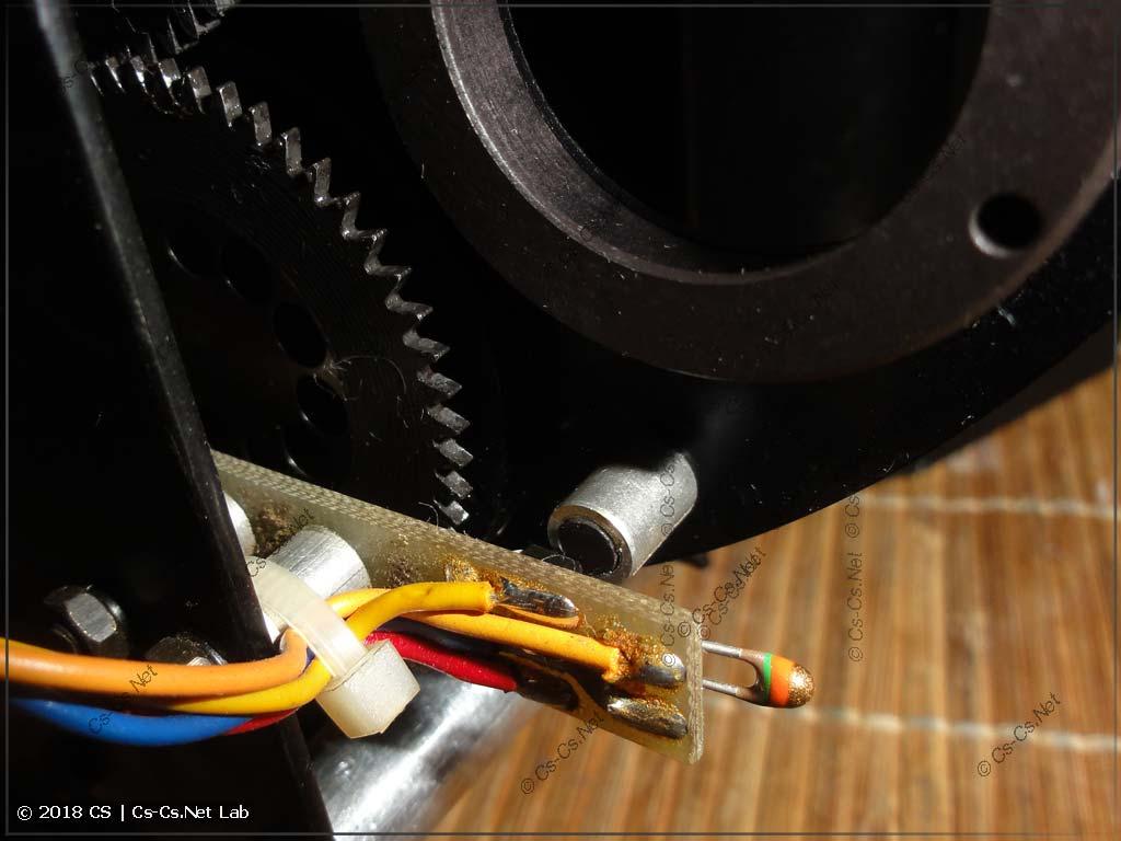 Датчик положения и индексирования гобо, термодатчик