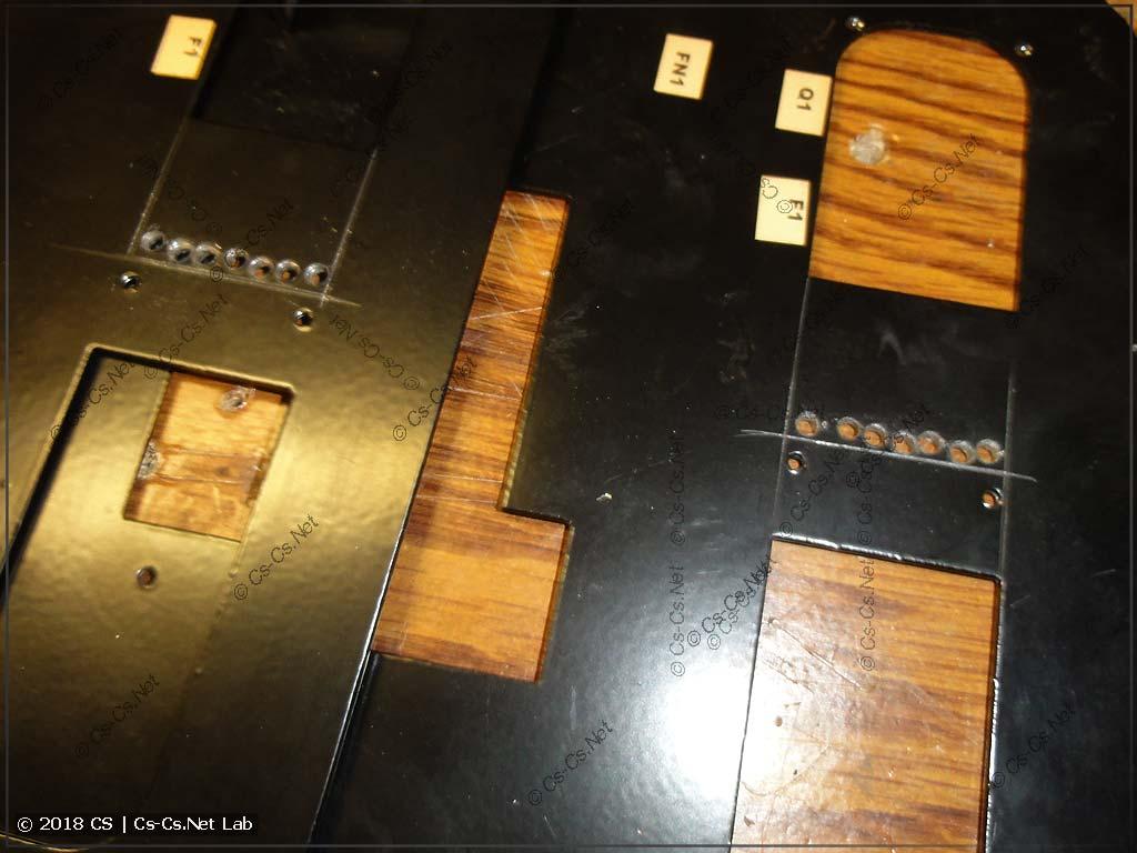 Для того, чтобы поставить новые панельки, понадобилось вырезать часть шасси