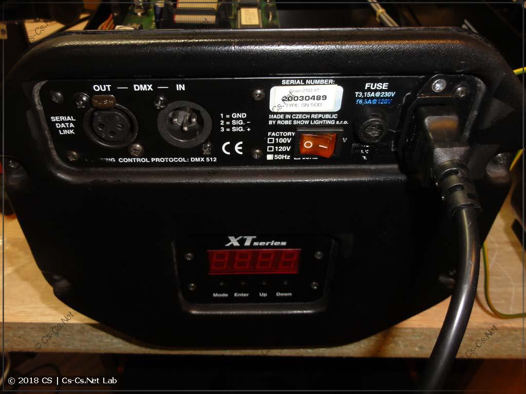 Переделанная передняя панель сканера Robe Scan 250 XT