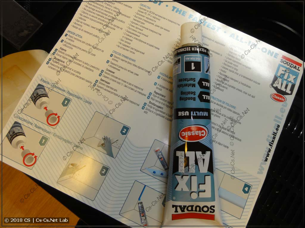 Soudal Fix All glue for re-gluing mirrors back