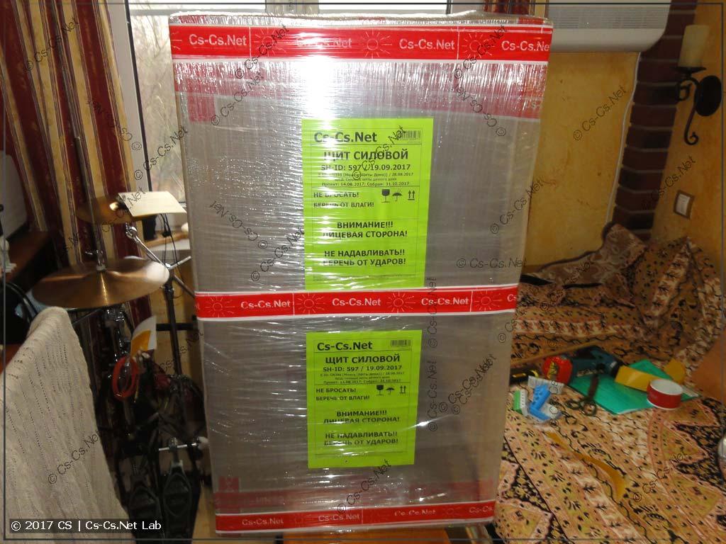 Щит в Удмуртию упакован и ждёт отправки