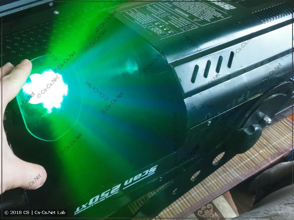 Сканер ROBE Scan 250 XT после переделки на светодиод SSD-90