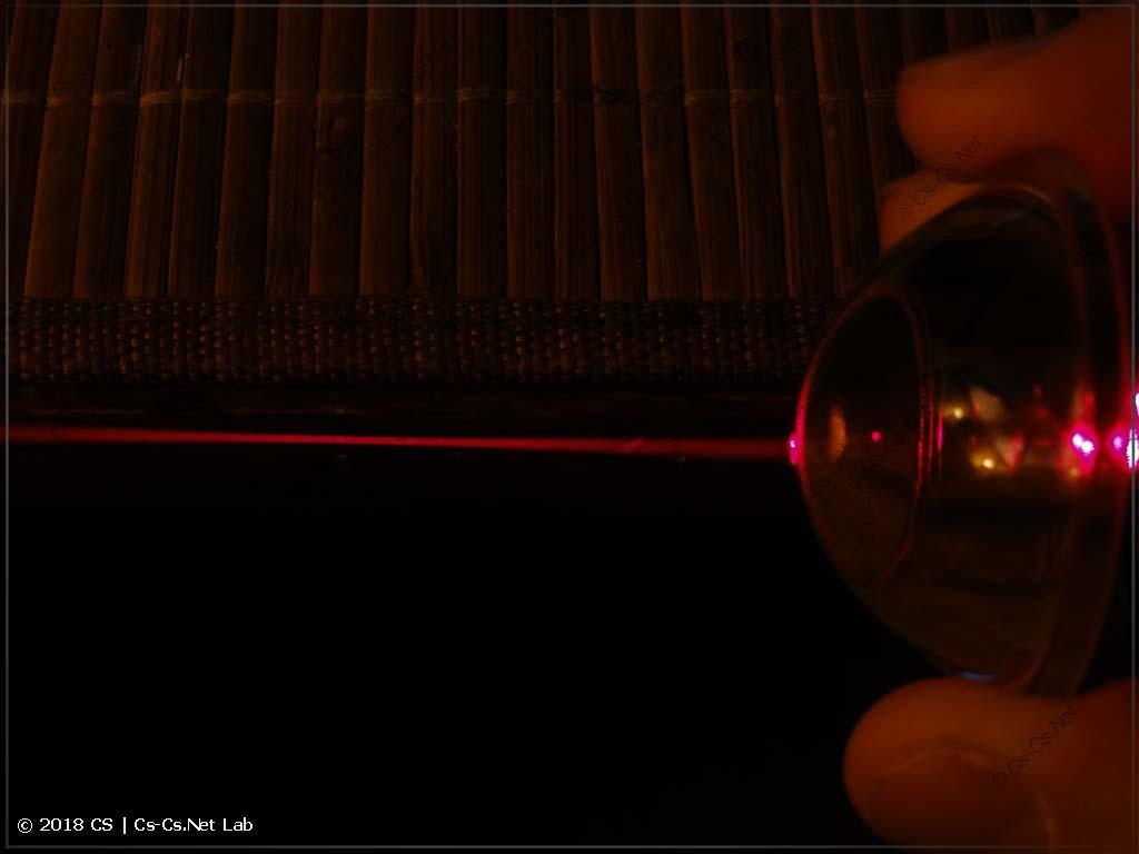 Оптический тест линзы из конденсора ROBE