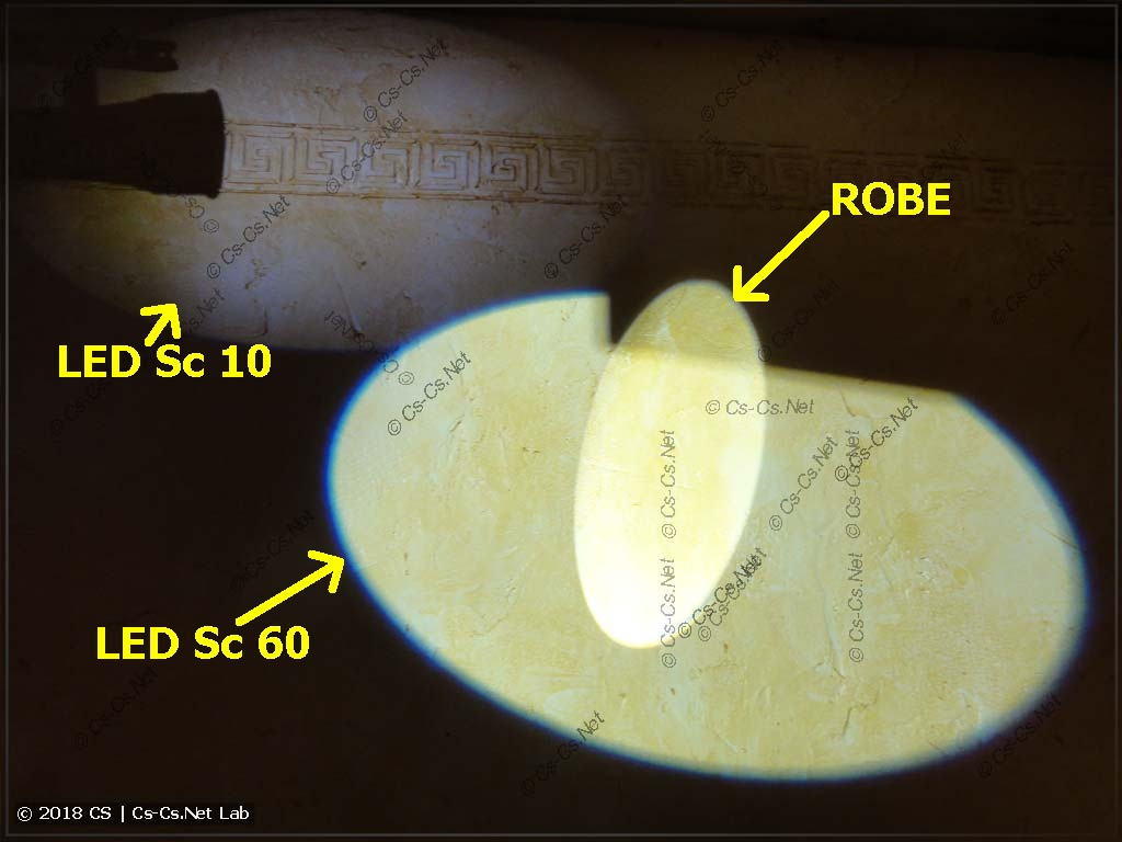 Light brightness comparsion between SSD-90 china scanner and converted ROBE scanner (prism is off)
