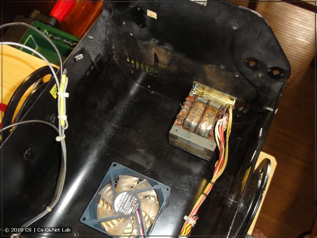 Закрепили трансформатор сканера на его корпус - места стало больше