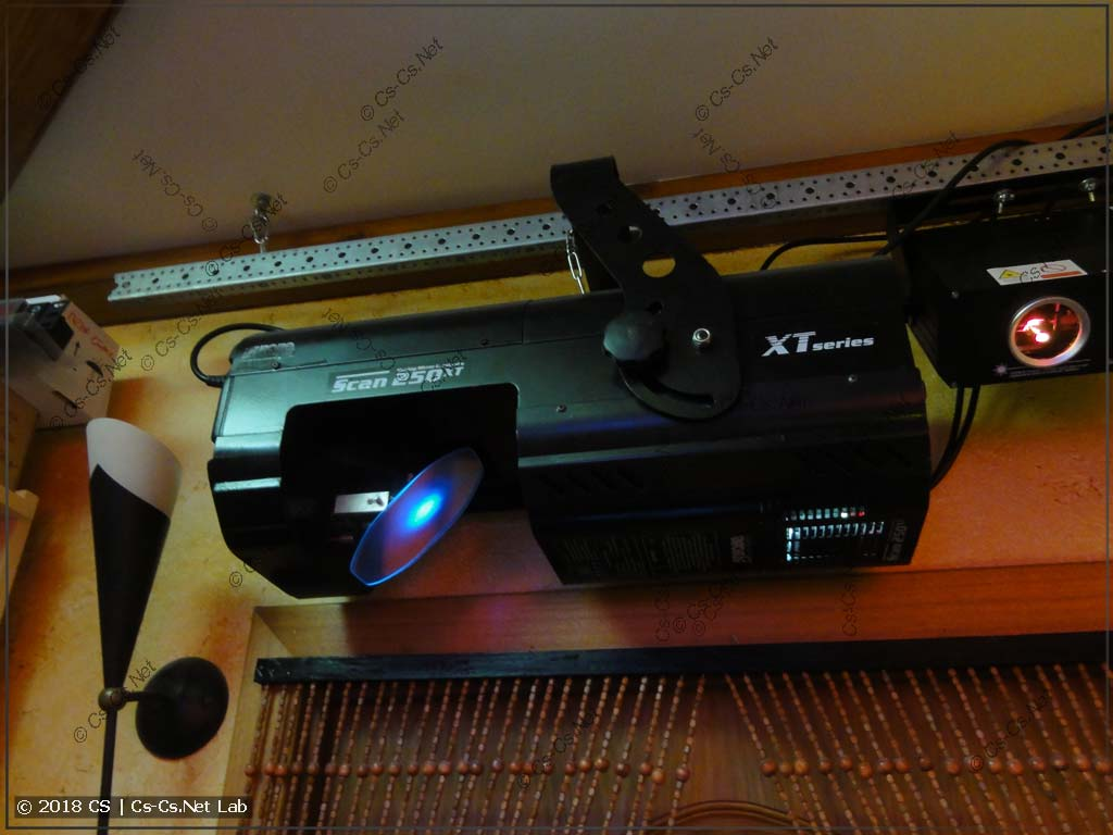 Сканер ROBE Scan 250 XT после переделки на светодиод