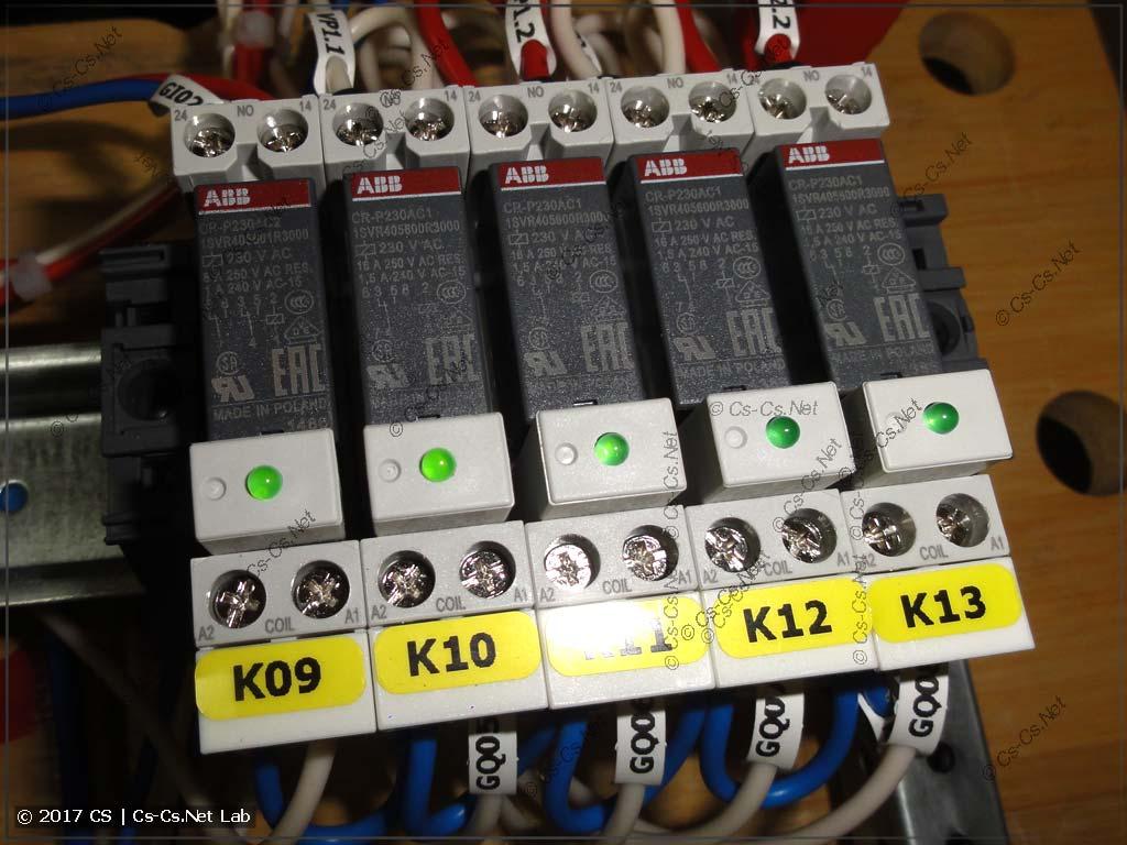 Обвязка реле CR-P для управления вентиляцией VortPlatt