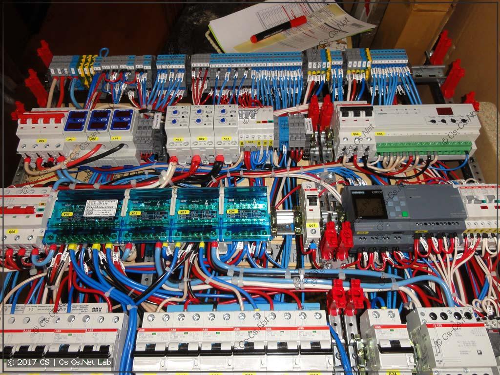 Плохо сделано: ебучее месиво проводов около кросс-модулей