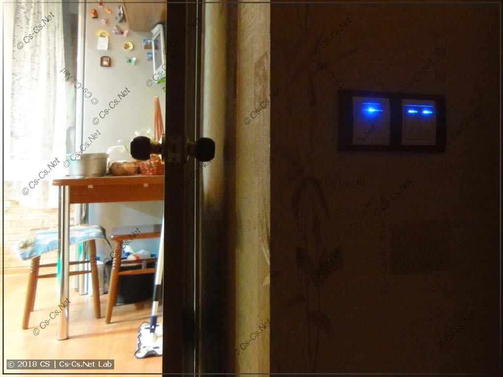 Кнопки управления импульсными реле в квартире