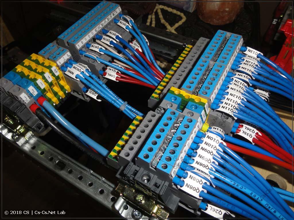 Клеммы для подключения всех выходных кабелей