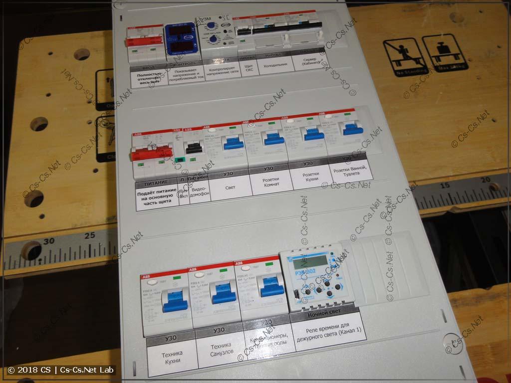Закрываем пластроны и клеим подписи автоматов