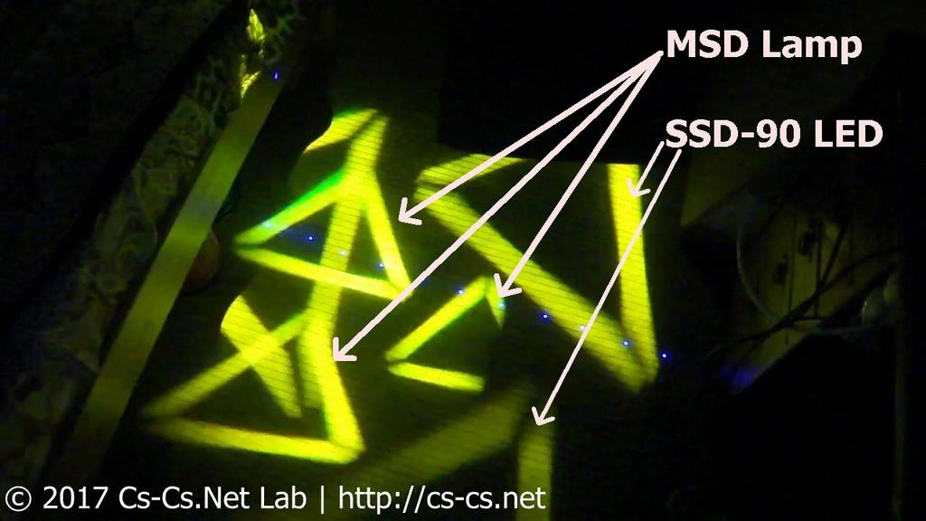 Сравнение переделки санера ROBE Scan 250 XT на LED с MSD-лампой (общие эффекты)