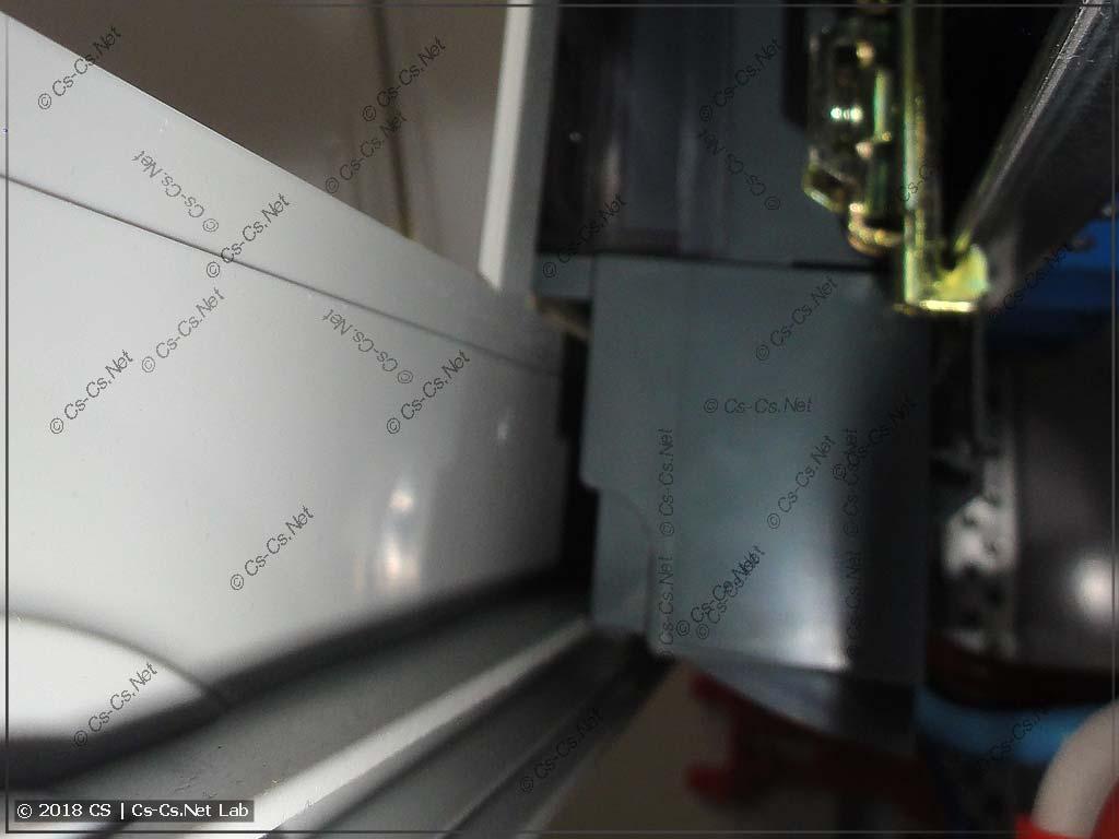Счётчик Меркурий упирается в пластрон щита; надо быть внимательным