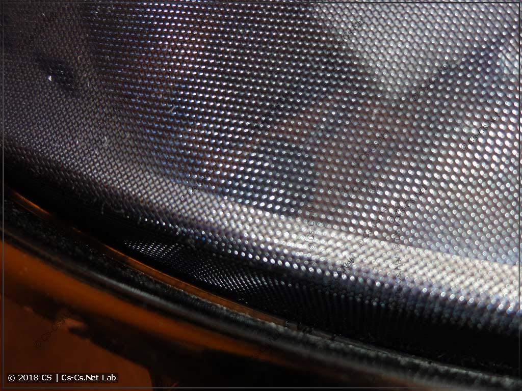 Кевларовая сетка натянулась и легла на края барабана