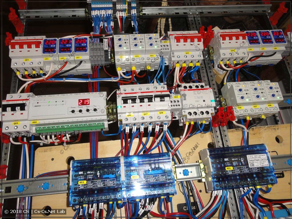 Обвязка ввода и автоматики управления в щите