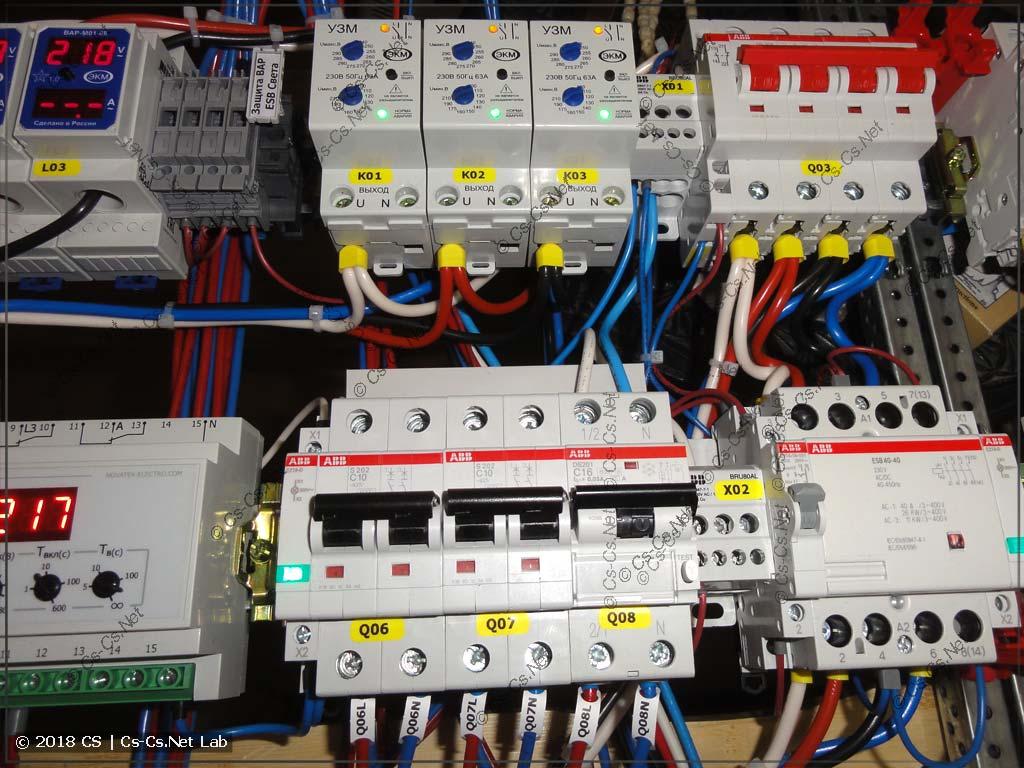 Обвязка автоматики управления светом (мастер-выключатель) в щите
