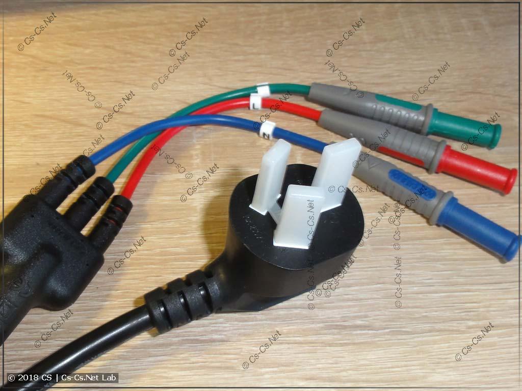 Оригинальный шнур для тестирования розеток и УЗО прибора