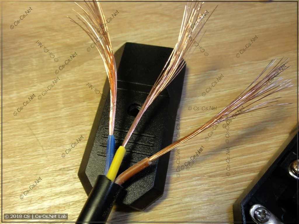 Доработка вилки тестового шнура прибора UT-526
