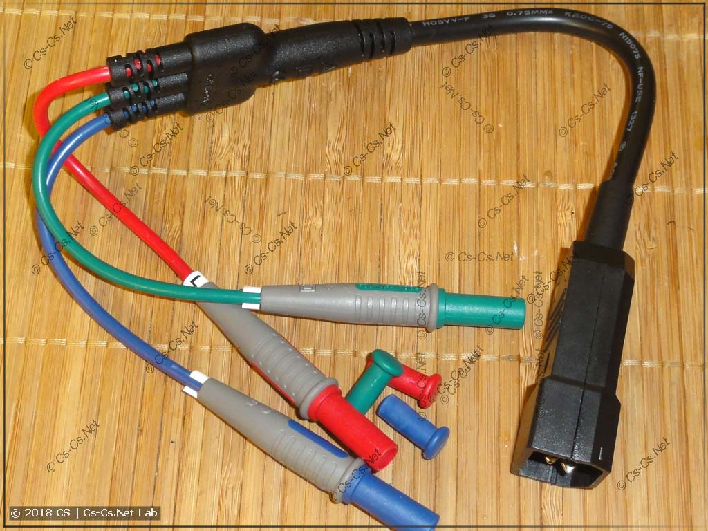 Доработанный под разъём IEC шнур прибора UT-526