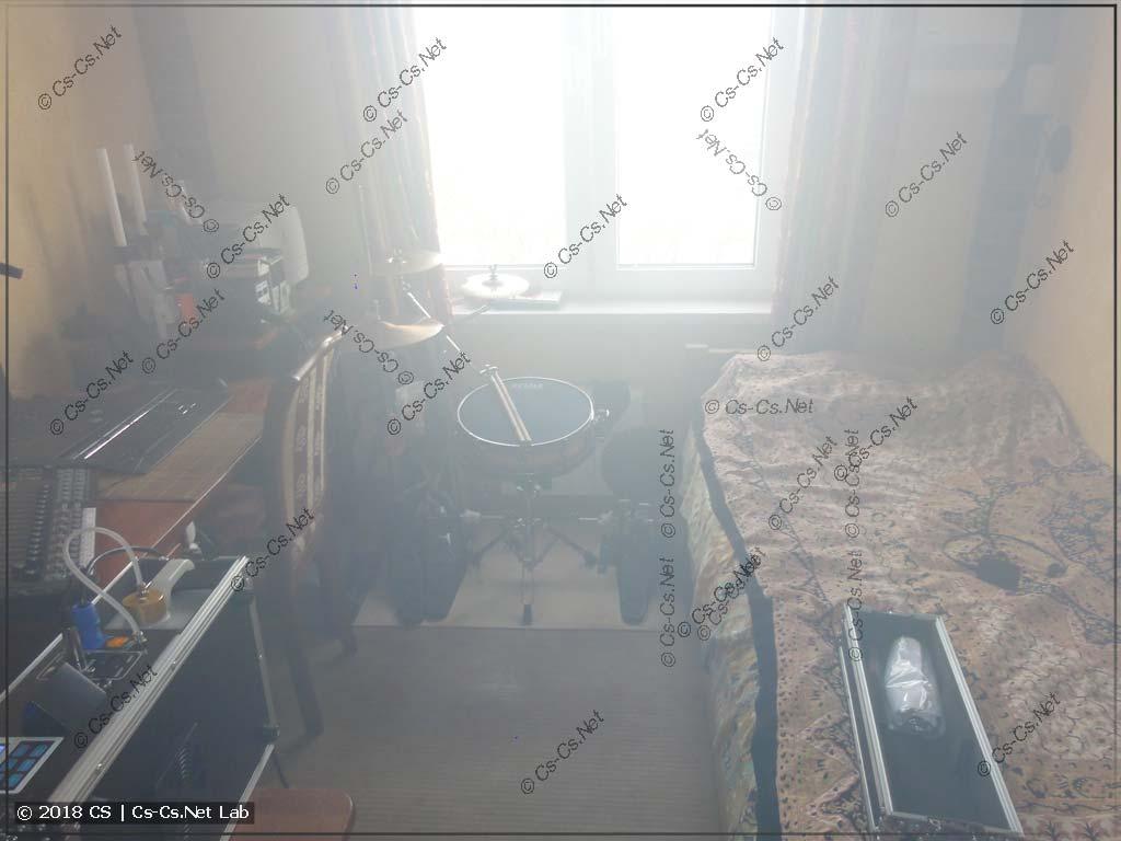 Туман в комнате после работы генератора