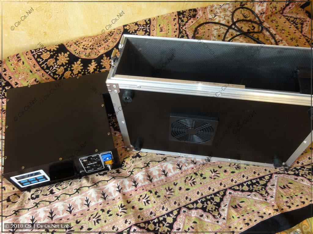 Извлекаем генератор тумана из кофра для переделки