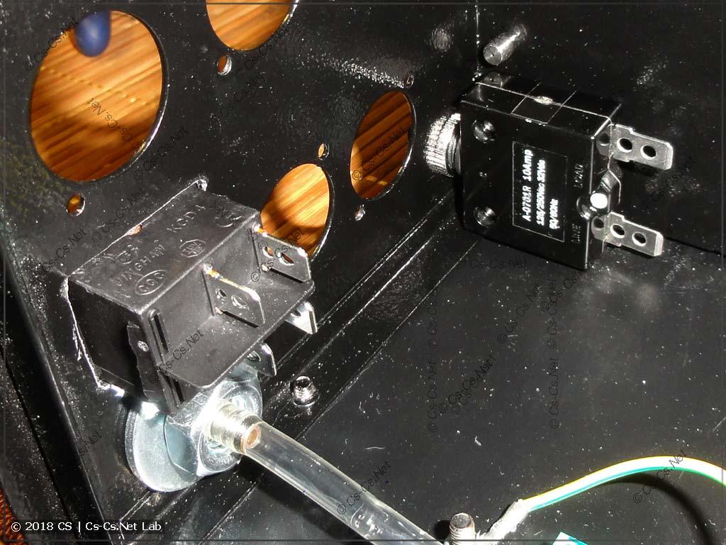 Монтируем выключатель питания на корпус хейзера