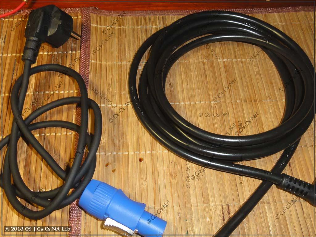 Заменяем короткий кабель питания на более длинный и удобный