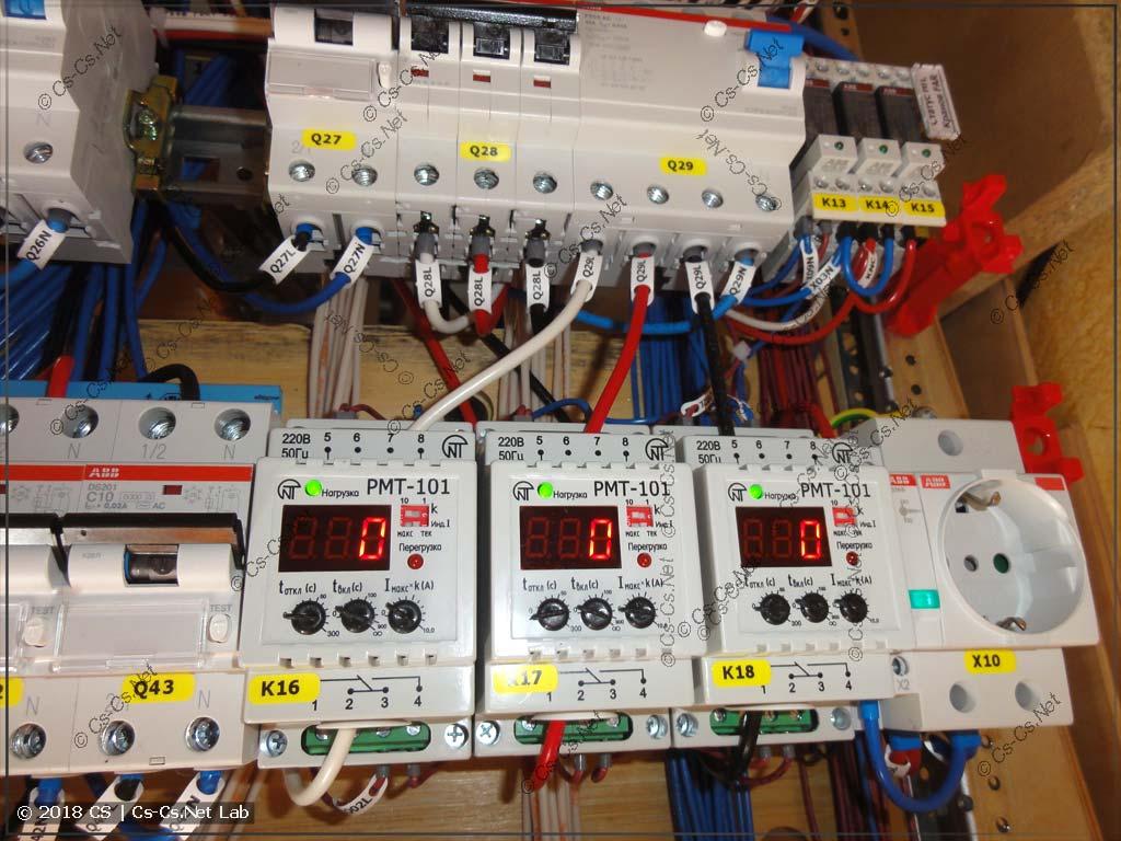 Реле тока РМТ-101 для определения того, работает ли водонагреватель