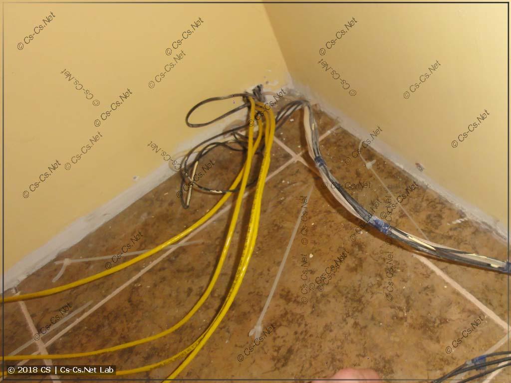 Новые кабели витой пары для LAN-сети в зал