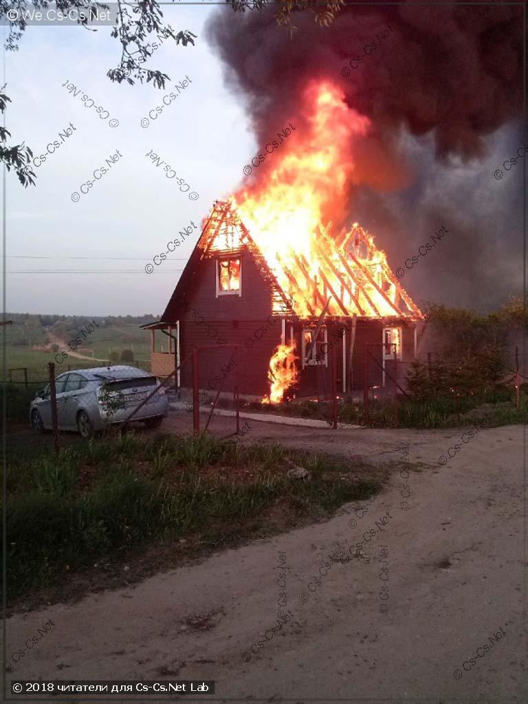 Дом пользователя Belaal в момент пожара из-за возгорания СИПа в счётчике