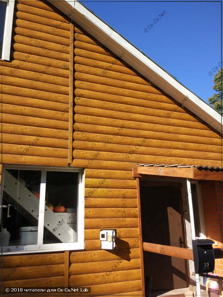 Вводной щит на фасаде деревянного дома с подгоревшим клеммником (Funt)
