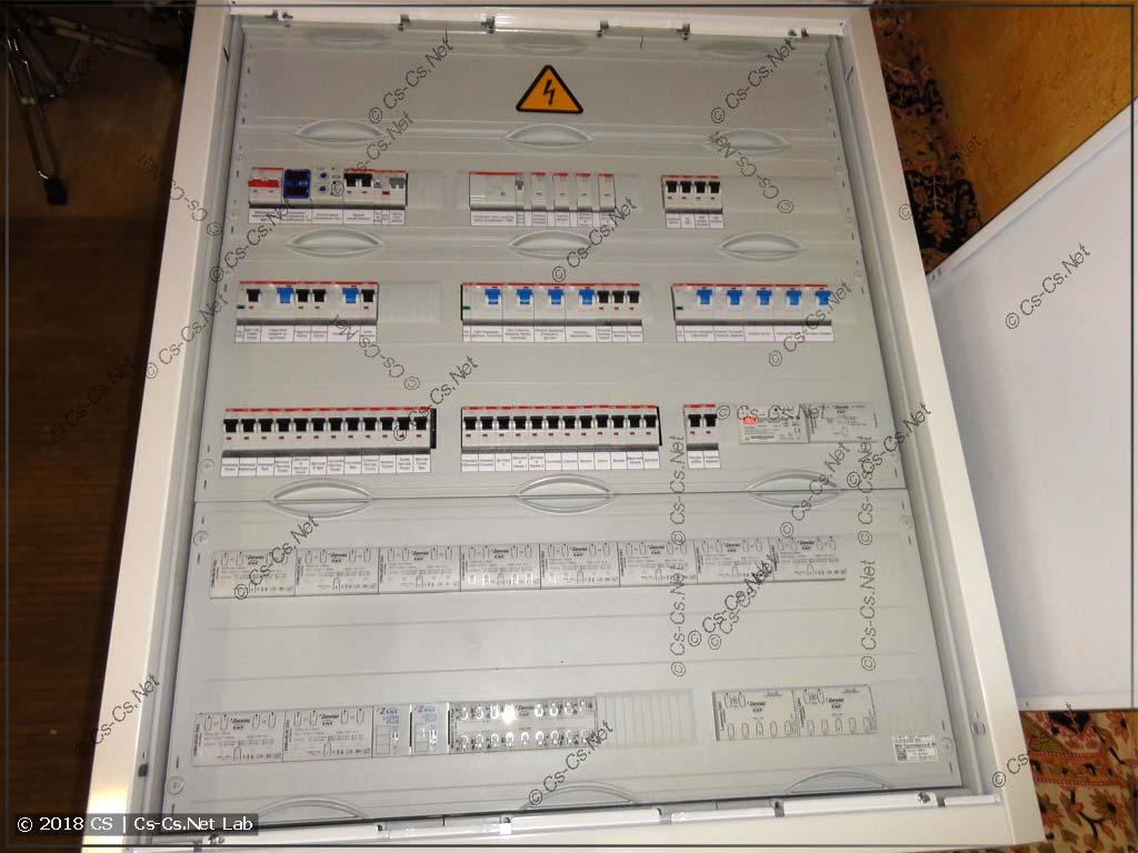 Щит для квартиры на автоматике KNX Zennio