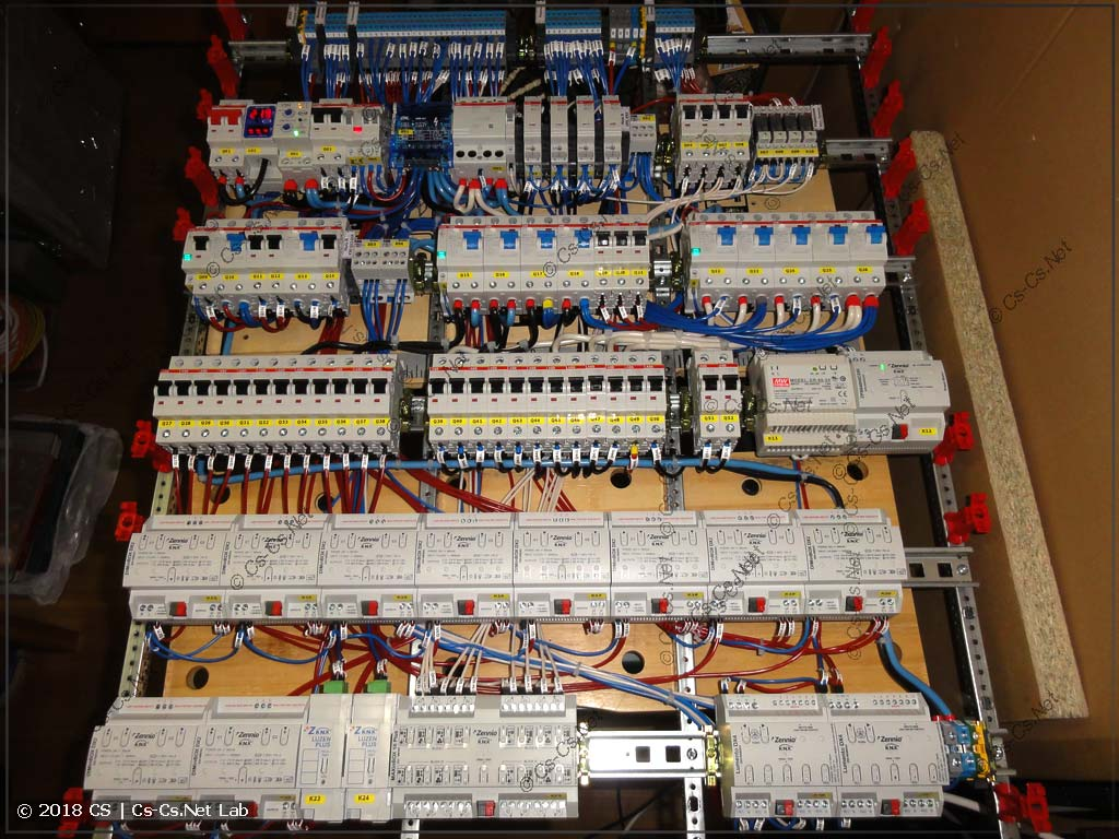 Щит для квартиры на автоматике KNX Zennio (собранная рама)