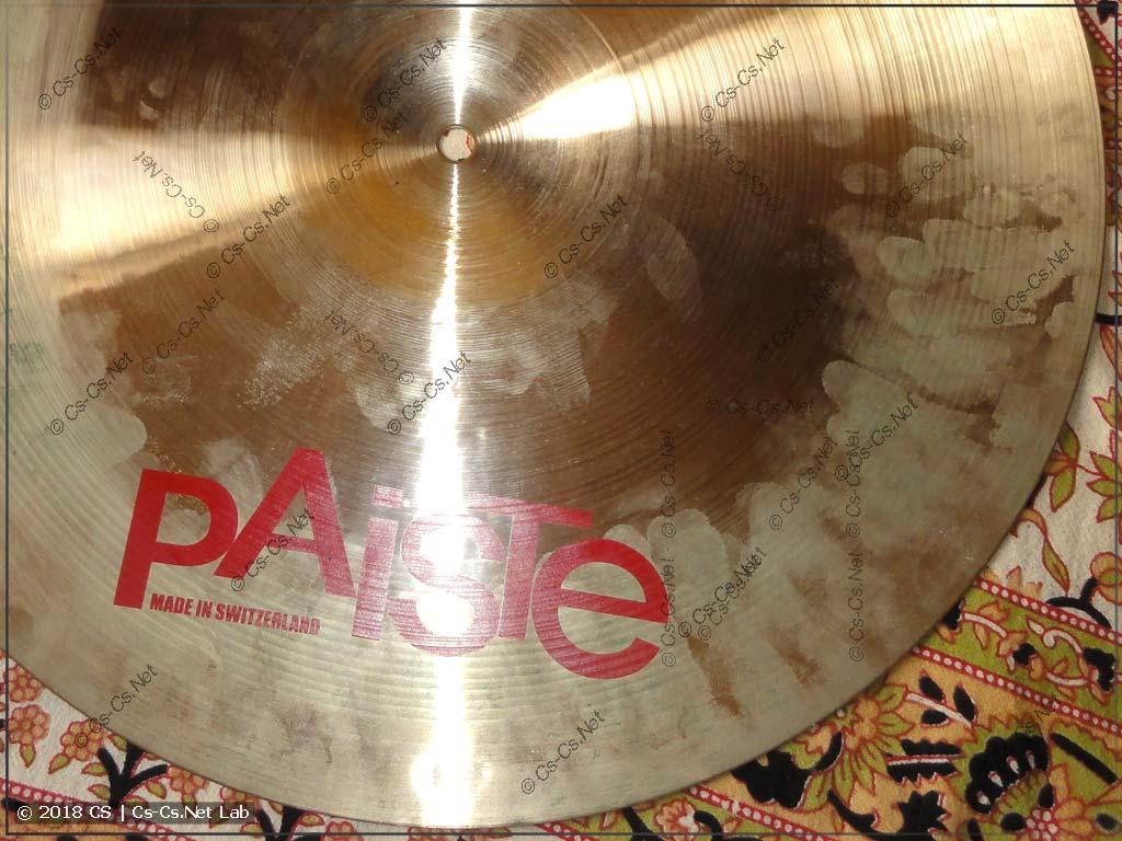 Барабанная тарелка (Paiste 2002 Power Crash 18) без ухода покрылась патиной - это ОЧЕНЬ ПЛОХО!