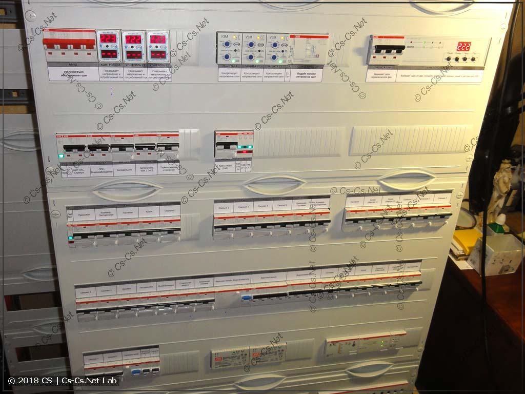 Щит на базе WR-рамы без корпуса (в самодельную нишу)
