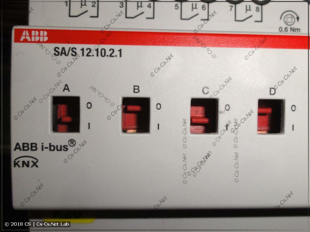 Блок исполнительных реле ABB KNX с ручным управлением