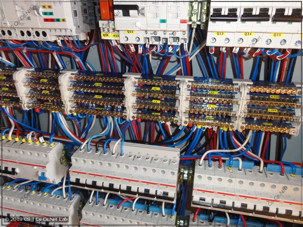 Кросс-модули от ИЭК в силовом шкафу