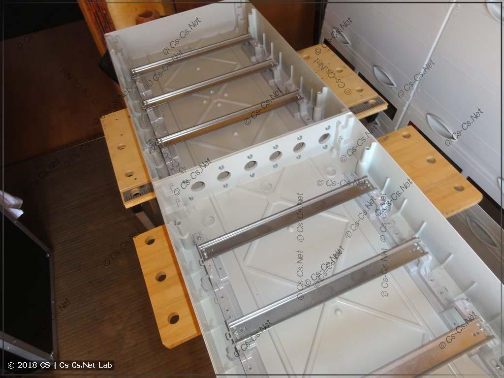 Сдвоенный корпус Mistral IP65 готов к установке модульки