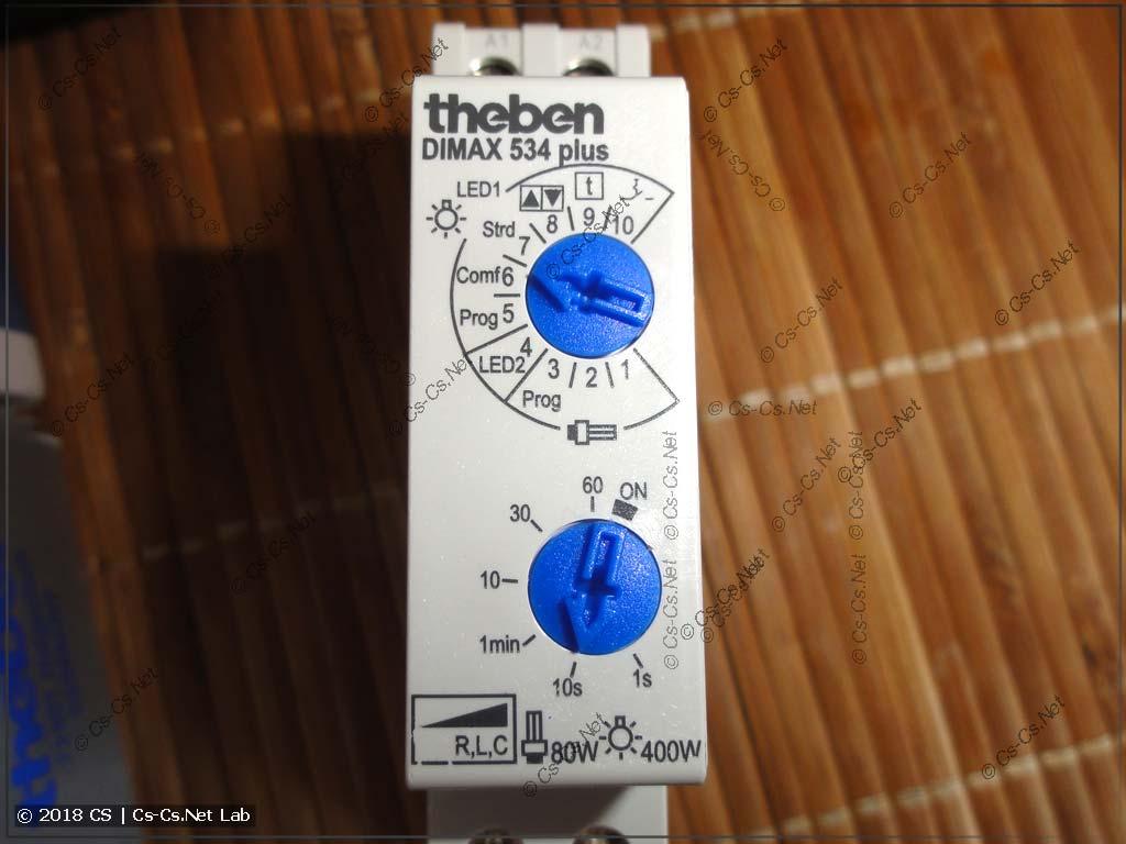 Передняя панель диммера Theben DiMAX 534 Plus