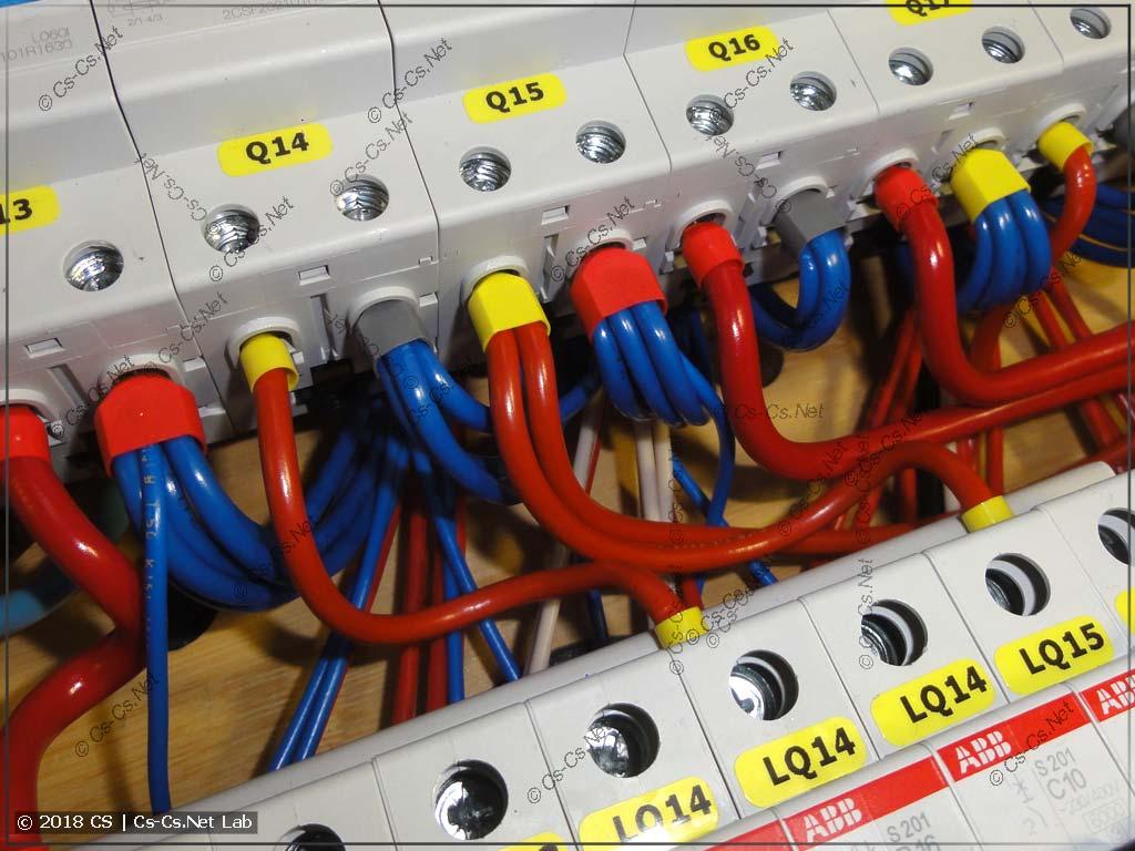 Вывод нулей от УЗОшек на клеммы несколькими проводами