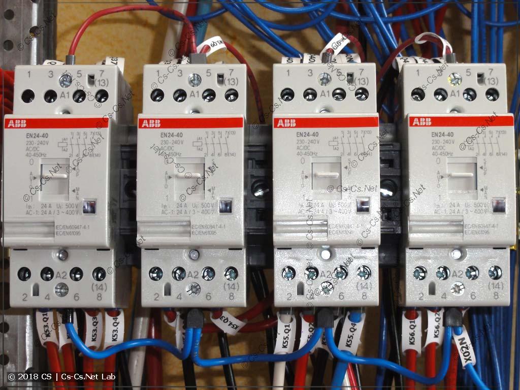 Контакторы для коммутации силовых нагрузое ABB EN (с ручным управлением)