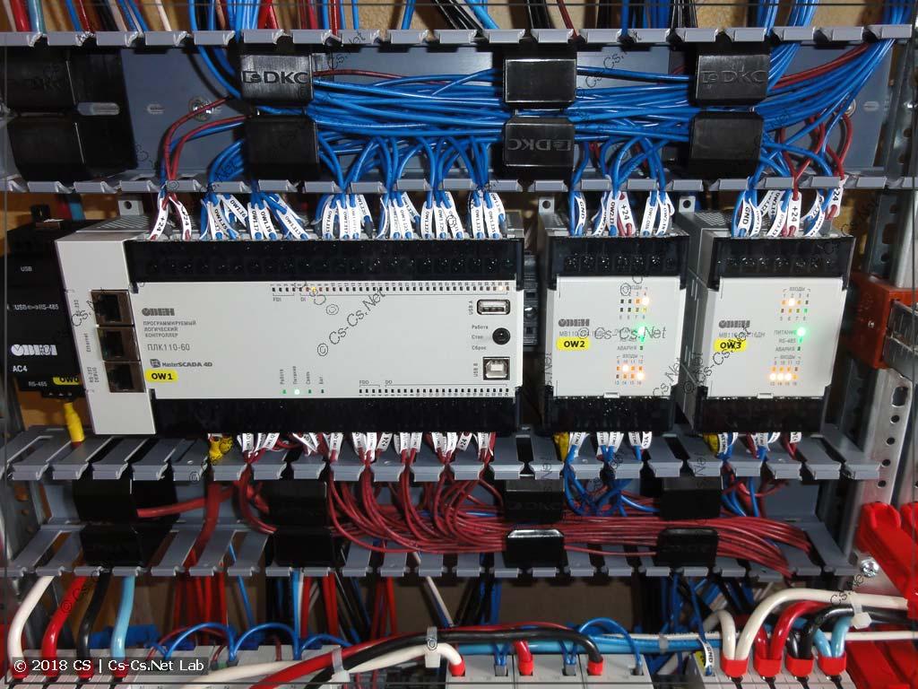 Перфорированный короб крайне необходим вокруг ПЛК для того, чтобы нормально уложить все провода